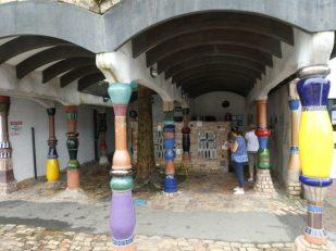 Hundertwasser toilet block in Kawakawa New Zealand