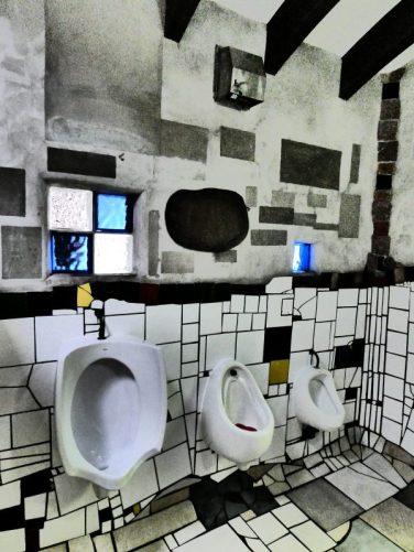 Hundertwasser toilet urinals in Kawakawa New Zealand