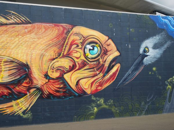 A delightful mural in Napier New Zealand