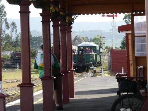 Waihi Train Station in New Zealand