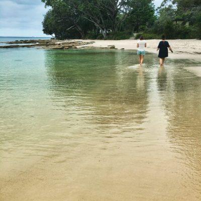 A walk along the beach on Christmas Day