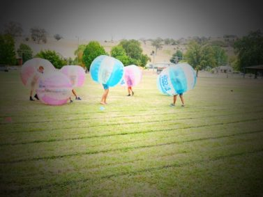 Bubble soccer fun