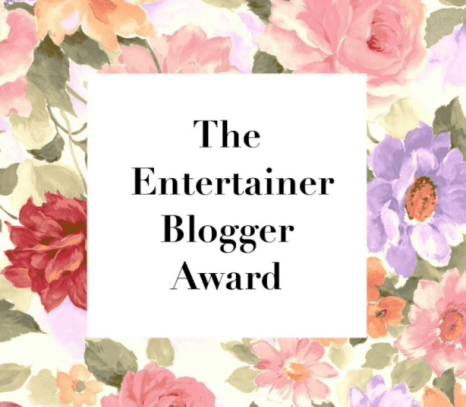 entertainer blogger award