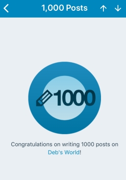 Yay! I've reached 1000 posts