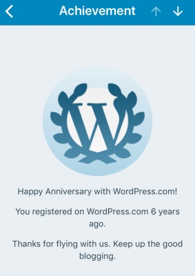 Six years of blogging