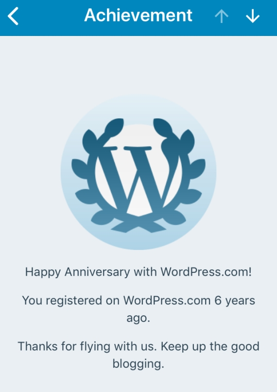 Six years of blogging