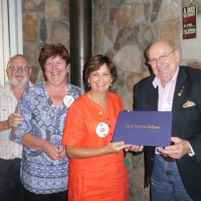 Receiving Rotary's Paul Harris Award