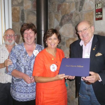 Receiving Rotary's Paul Harris Award