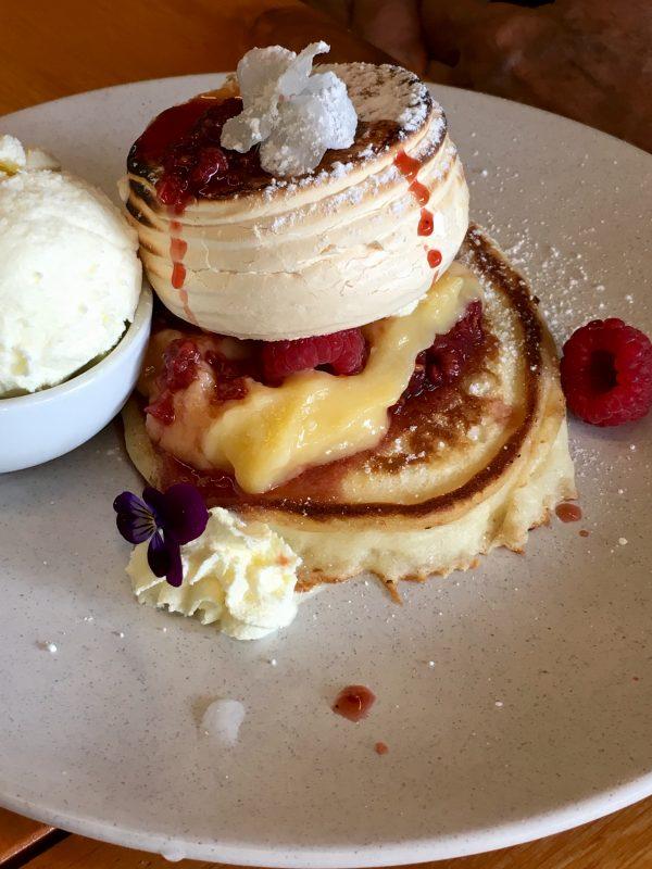 Lemon meringue pancakes - comfort food for brunch?