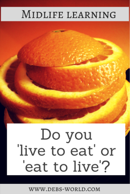 Midlife learning, food discussion group, eat to live or live to eat?