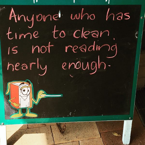 A great sign outside a book shop