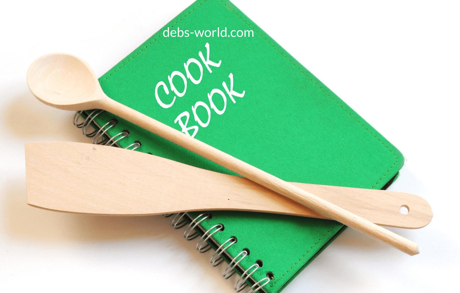 cook book blog header