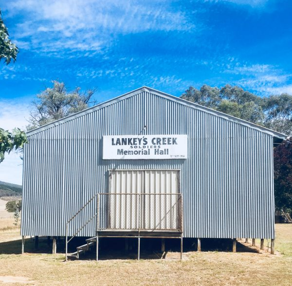 Lankey's Creek Hall for lunch