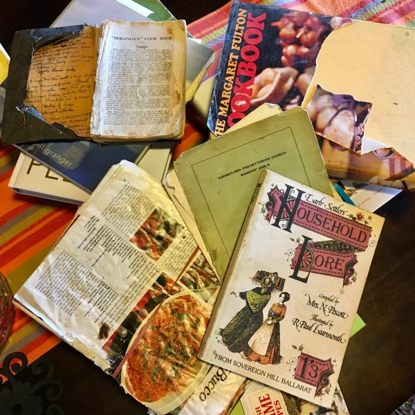 A collection of old favourite recipe books
