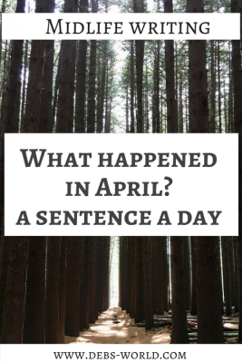 April in a sentence a day