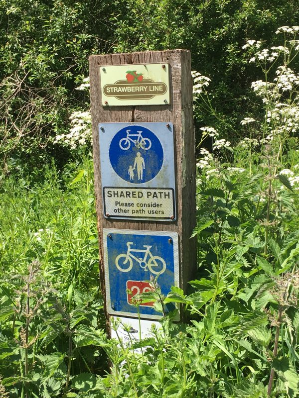A shared path on the Strawberry Line