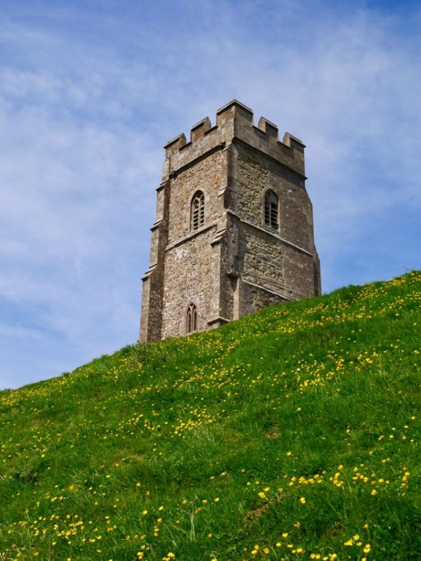 St Michael's Tower on top of Glastonbury Tor