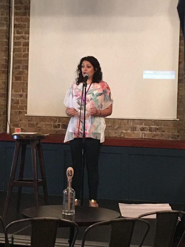 Ritu giving her presentation