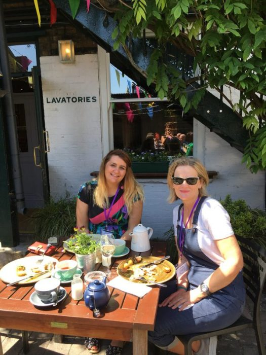 Lunch break with Melanie and Jill