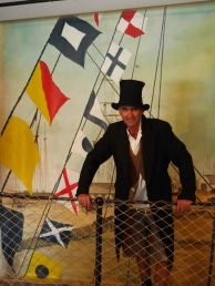 Dress ups on the SS Great Britain in Bristol