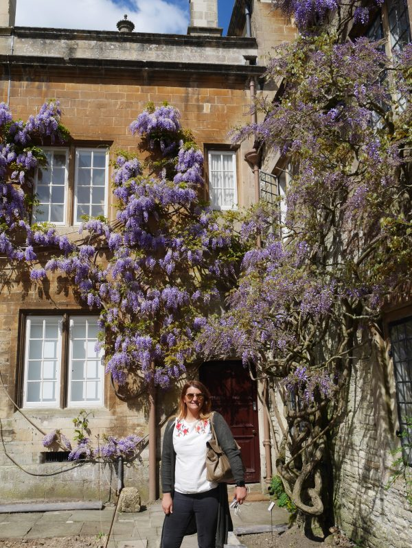 Melanie and the Wisteria at Dyrham Park