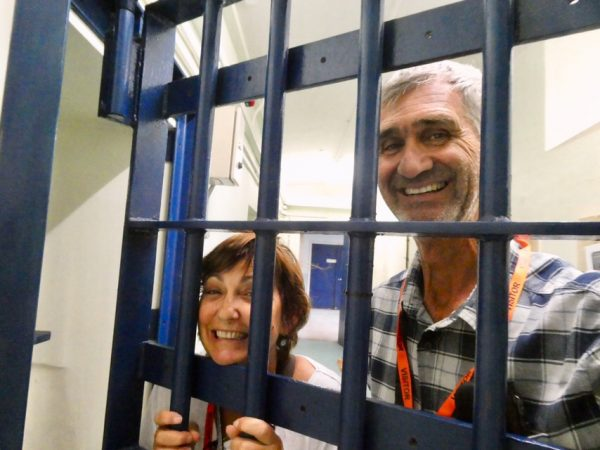Our Cellfie in Shepton Mallet Prison