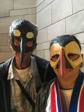 Viking masks in Iceland