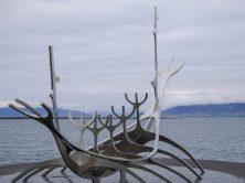 Viking boat in Reykjavik in Iceland
