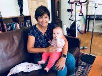 With baby Josephine
