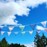 Blue sky and bunting