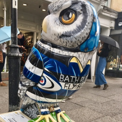 Hoops - outside Bath Rugby shop