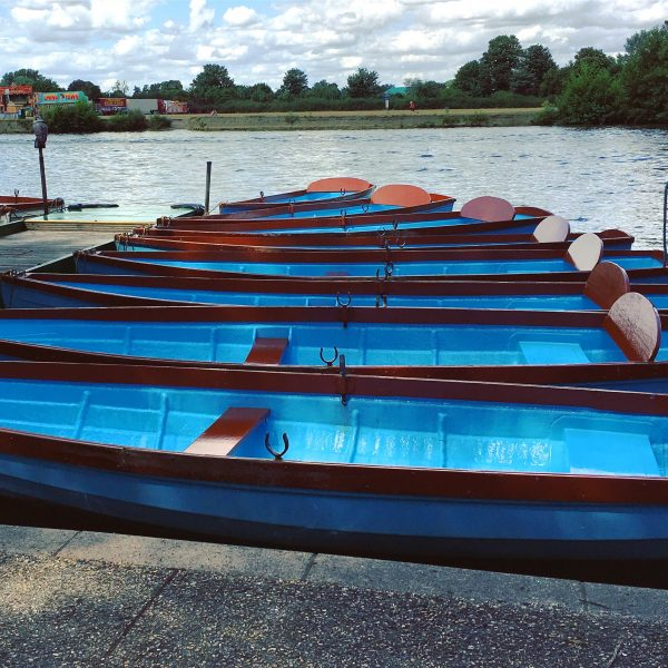 Row boats in Windsor