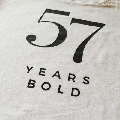 57 years bold