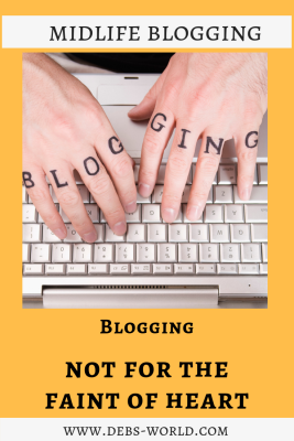 Blogging is not for the fainthearted - read more at www.Debs-World.com