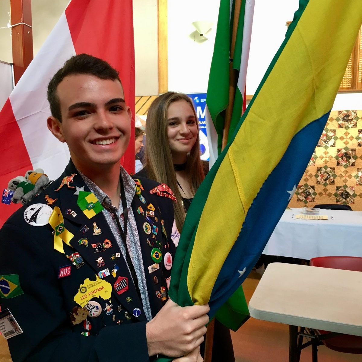 Rotary Youth Exchange Flag ceremony