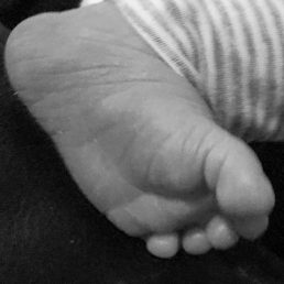 Baby's foot edited
