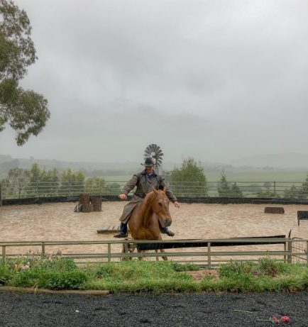 Very skilful horse action at Boggy Creek Show