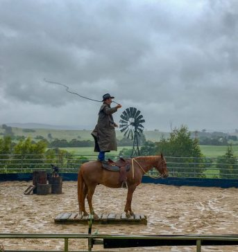 Whip cracking at Boggy Creek Show