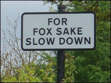 Road sign in Cornwall