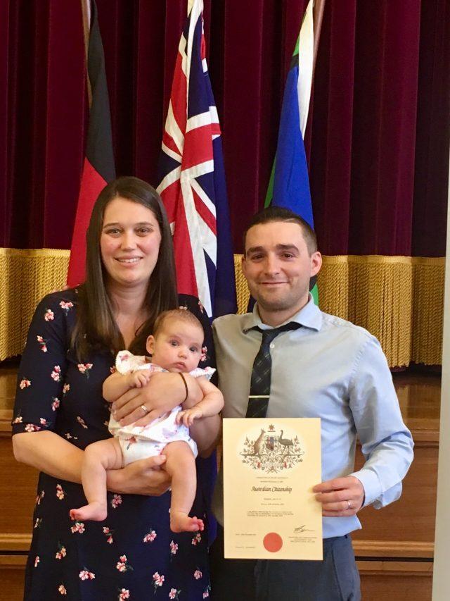 New Australian citizen in the family
