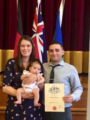 New Australian citizen in the family