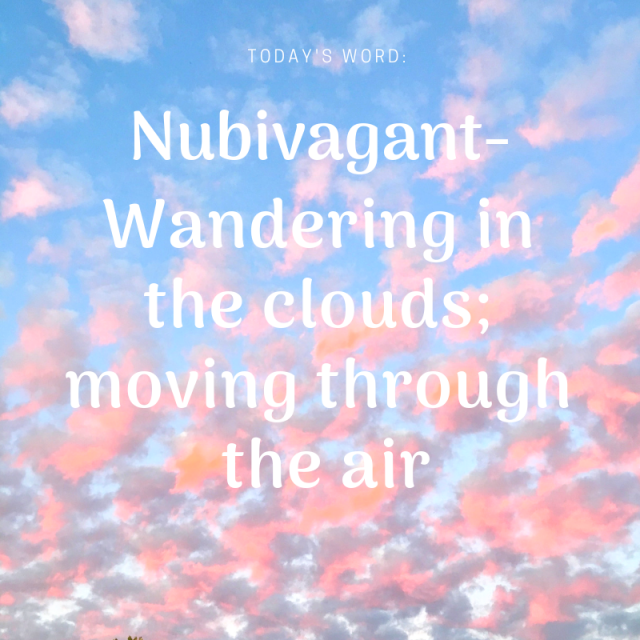 Word of the day - Nubivagant