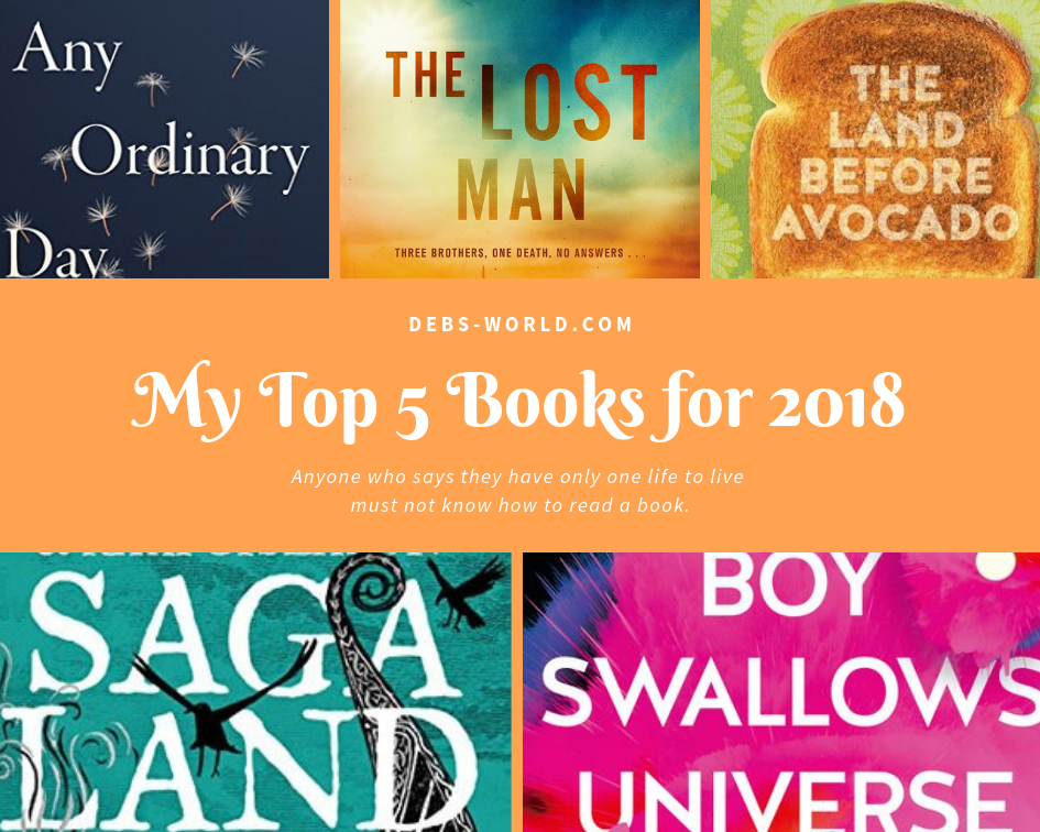 My Top Five Favourite Books this year – with a surprise twist!