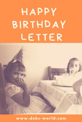 Happy birthday letter to me