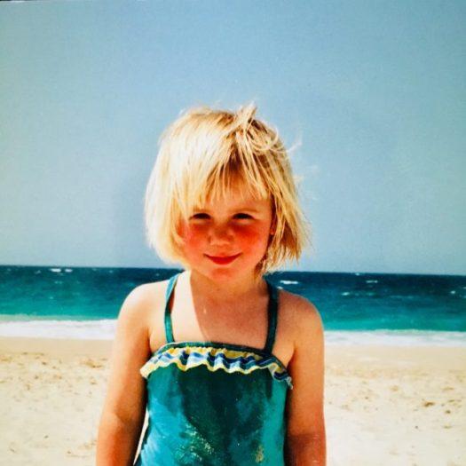 Eliza as a little girl