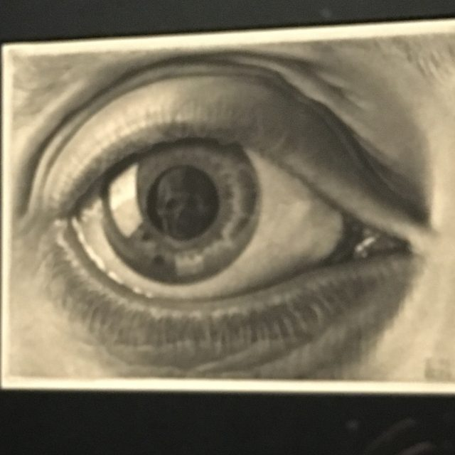 Eye with Skull by Escher