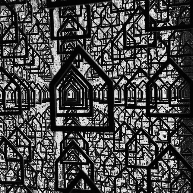 Houses closeup, over 50000 of these made up the clever chandelier