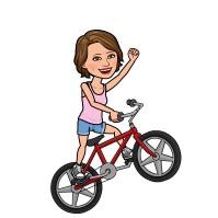 Bike riding Debs