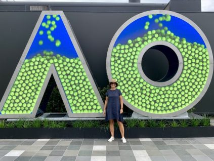Me at the Australian Open Tennis in Melbourne