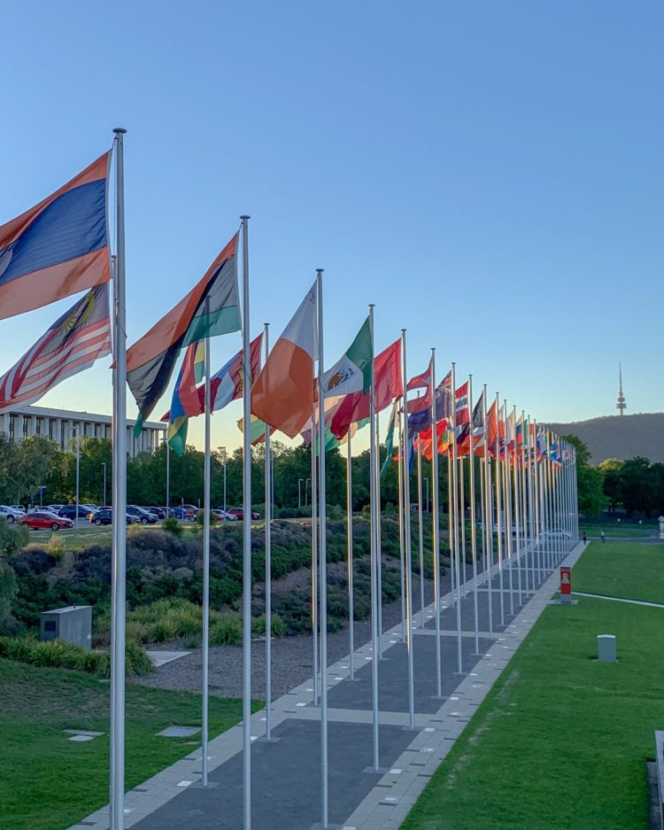 Canberra flags
